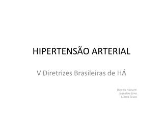 HIPERTENSÃO + ARTERIAL