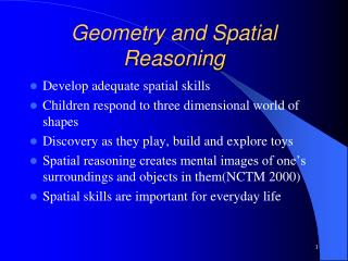 Geometry and Spatial Reasoning