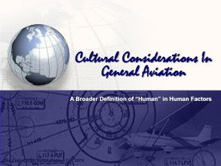 Cultural Considerations In General Aviation