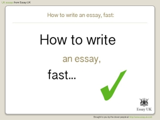 How To Write An Essay, Fast | Essay Writing Help