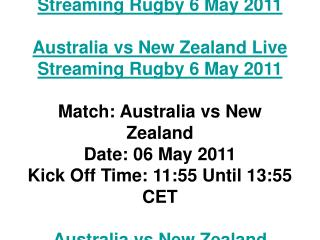 australia vs new zealand live streaming rugby 6 may 2011