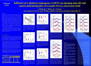 POSTER: Influence of 1-Methylcyclopropene 1-MCP on ripening and ...Influence of 1-Methylcyclopropene 1-MCP on ripening a