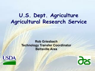 U.S. Dept. Agriculture Agricultural Research Service
