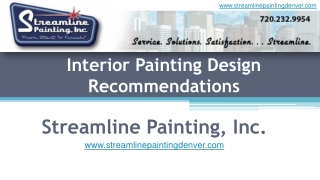 Interior Painting Design Recommendations