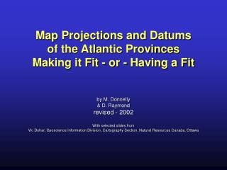 Map Projections and Datums of the Atlantic Provinces Making it ...
