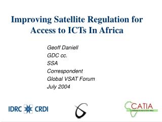 Improving Satellite Regulation for Access to ICTs In Africa