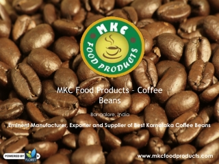 Coffee Beans Supplier in Bangalore