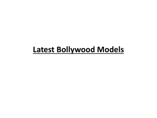Latest Bollywood Models