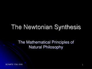 The Newtonian Synthesis