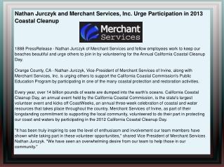 Nathan Jurczyk and Merchant Services, Inc. Urge Participatio