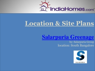 Property in Bangalore - Salarpuria Greenage by Salarpuria