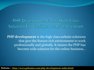 The High Class Solution For Flexible Website Creation