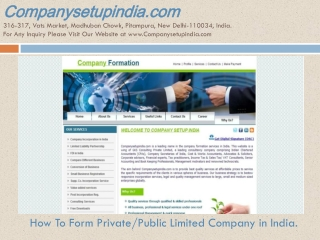 How To Form, Incorporate & Register Private Limited Company