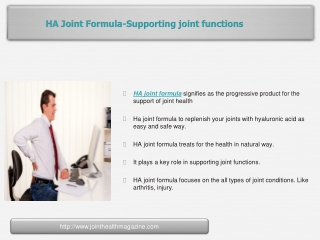 HA Joint Formula-Supporting joint functions
