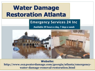 Water Damage Restoration Atlanta