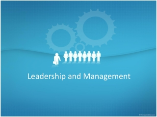 Develop Your Leadership and Management Skills