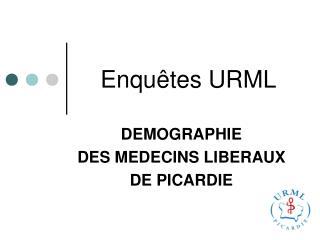 Enqu tes URML