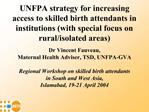 UNFPA strategy for increasing access to skilled birth attendants ...