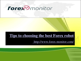 Tips to choosing the best Forex robot