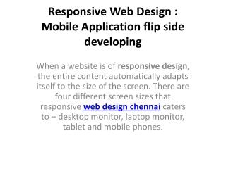 Responsive Web Design | Mobile Application flip side Develop