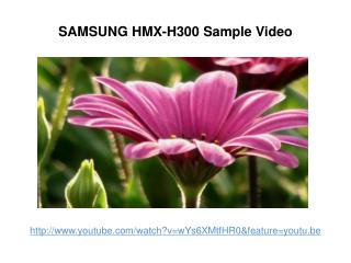 samsung hmx-h300 sample video