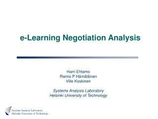 E-Learning Negotiation Analysis