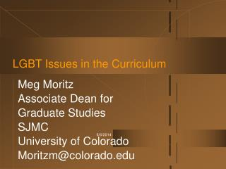LGBT Issues in the Curriculum