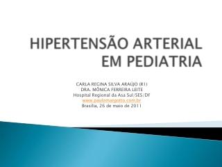 Hipertensao arterial em Pediatria