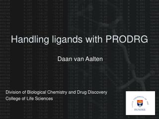 Handling ligands with PRODRG