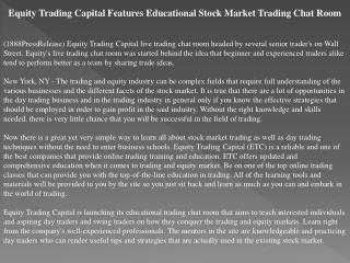equity trading capital features educational stock market tra