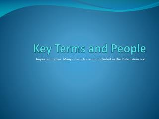 Key Terms