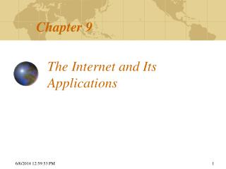 The Internet and Its Applications