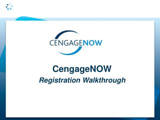 CengageNOW Registration Walkthrough