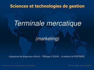 Terminale mercatique  marketing
