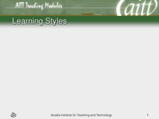 Learning Styles