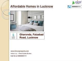 Earth Gharonda Lucknow | Call 9999561111