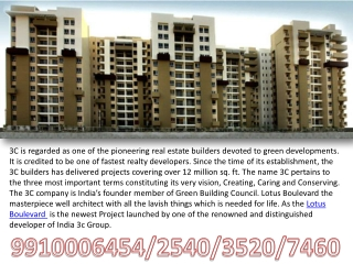 Ready To Move Flats Noida Lotus Boulevard 9910006454 3c Lotu