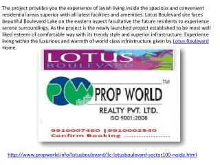 Lotus Boulevard 9910006454 3c Lotus Boulevard Noida