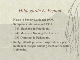 Hildegarde E. Peplau