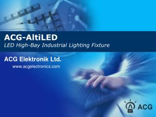 ACG-AltiLED LED High-Bay Industrial Lighting Fixture