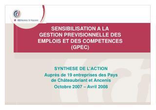 SENSIBILISATION A LA GESTION PREVISIONNELLE DES EMPLOIS ET DES ...