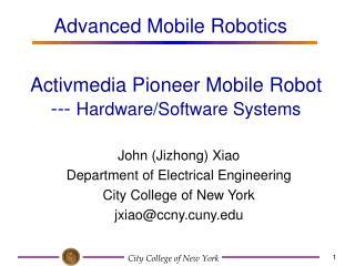 Activmedia Pioneer Mobile Robot --- Hardware