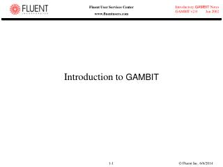 Introduction to GAMBIT