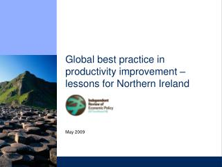 Global best practice in productivity improvement   lessons for Northern Ireland