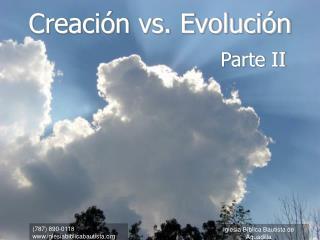 Creaci n vs. Evoluci n