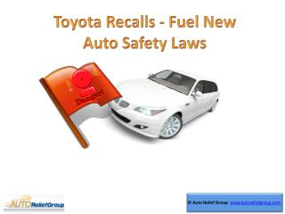 Toyota Recalls Fuel New Auto Safety Laws