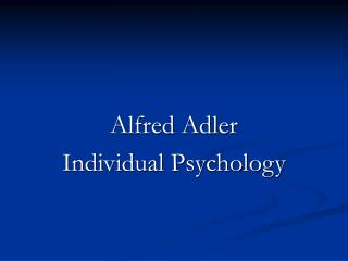 the individual psychology of alfred adler pdf