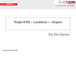 Projet IFRS : Contrats de location