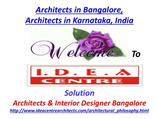 Architects in Bangalore, Architects Karnataka, India