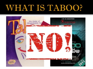 What is Taboo?